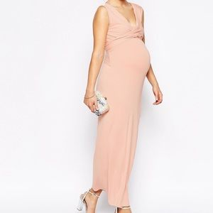 ASOS Maternity Pink Bodycon Maxi Dress 10